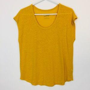 Universal Thread Golden Yellow Linen Tee Sz M